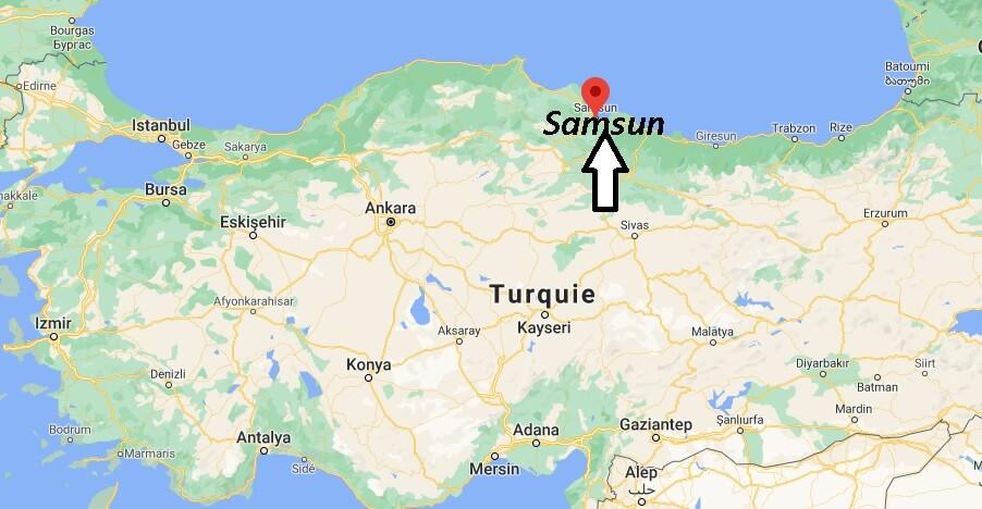Ou se trouve la ville Samsun? Dans quel pays se trouve Samsun
