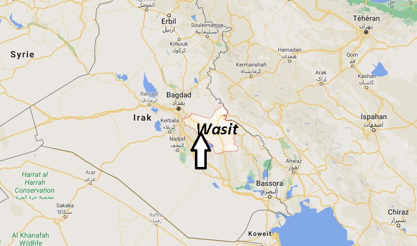Dans quel pays se trouve Wasit