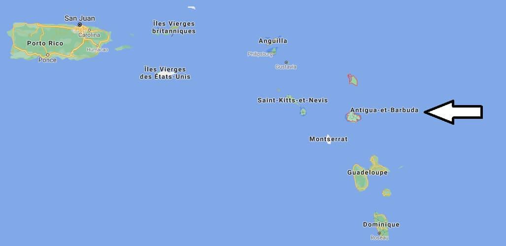 Où se situe Antigua et Barbuda