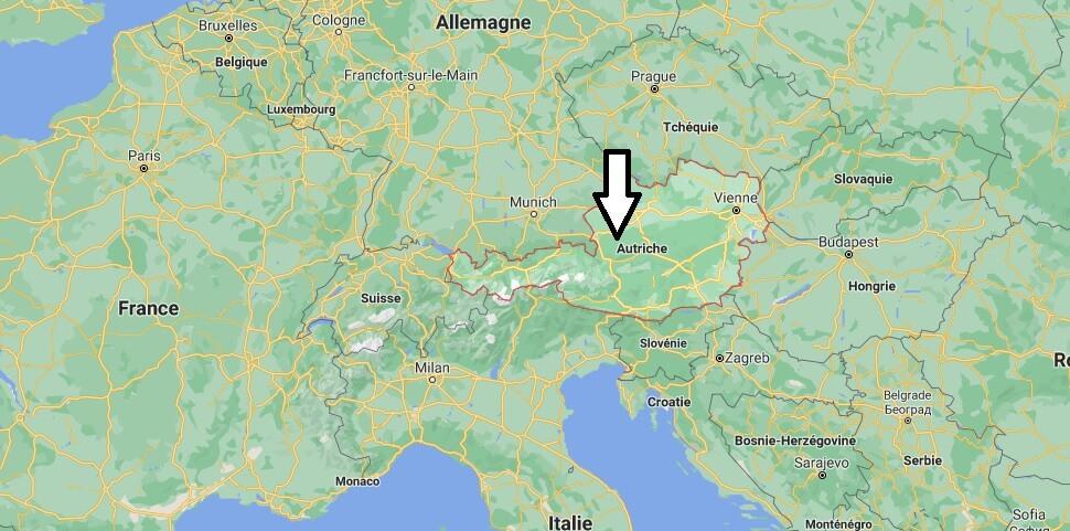 Où se situe Autriche