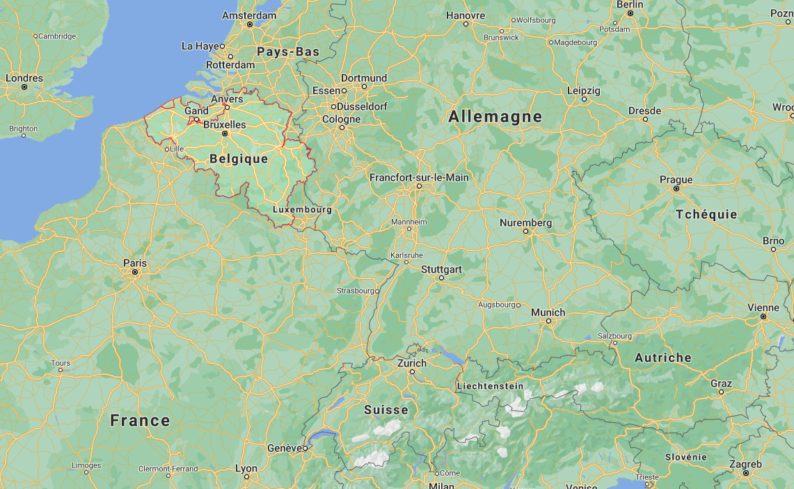 Où se situe Belgique