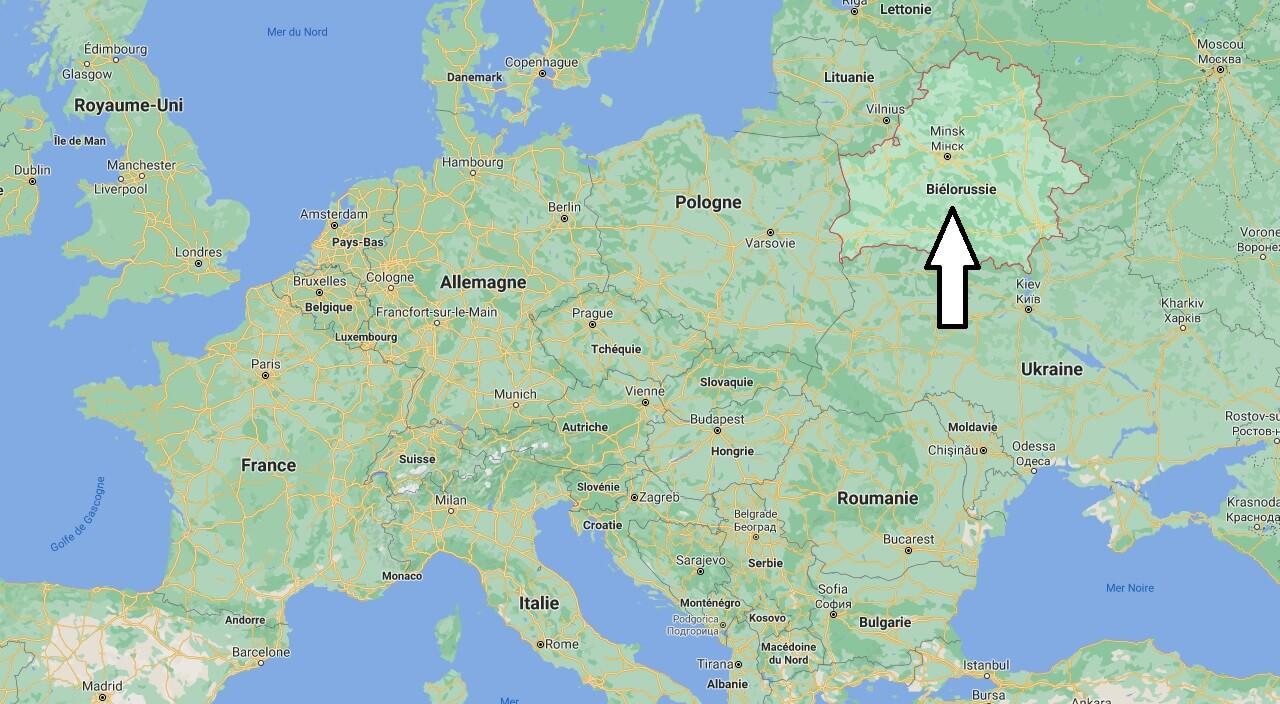 Où se situe Biélorussie