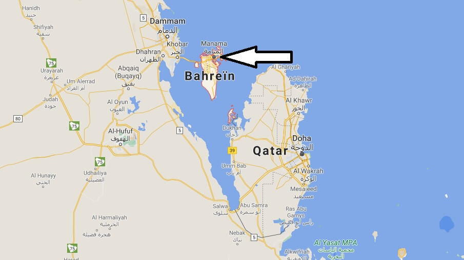 Où se situe LBahreïn