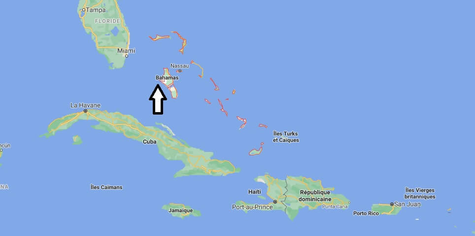 Où se situe Les Bahamas