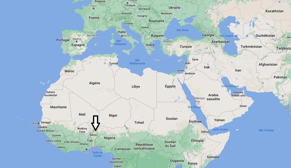 Où se situe le Bénin