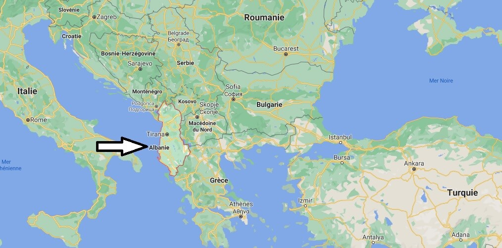 Où se trouve Albanie sur la carte