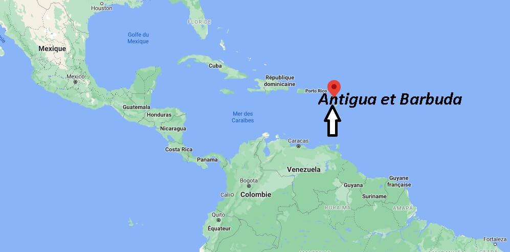Où se trouve Antigua et Barbuda