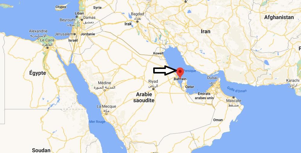 Où se trouve Bahreïn