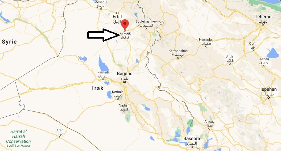 Où se trouve Kirkouk