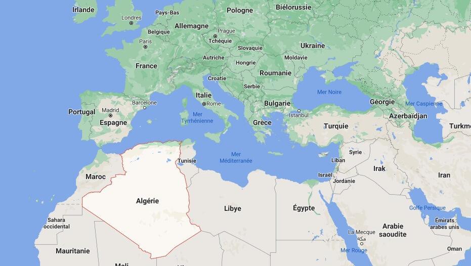 Où se trouve l-Algérie sur la carte du monde