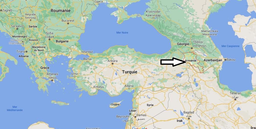 Où se trouve l-Arménie sur la carte du monde