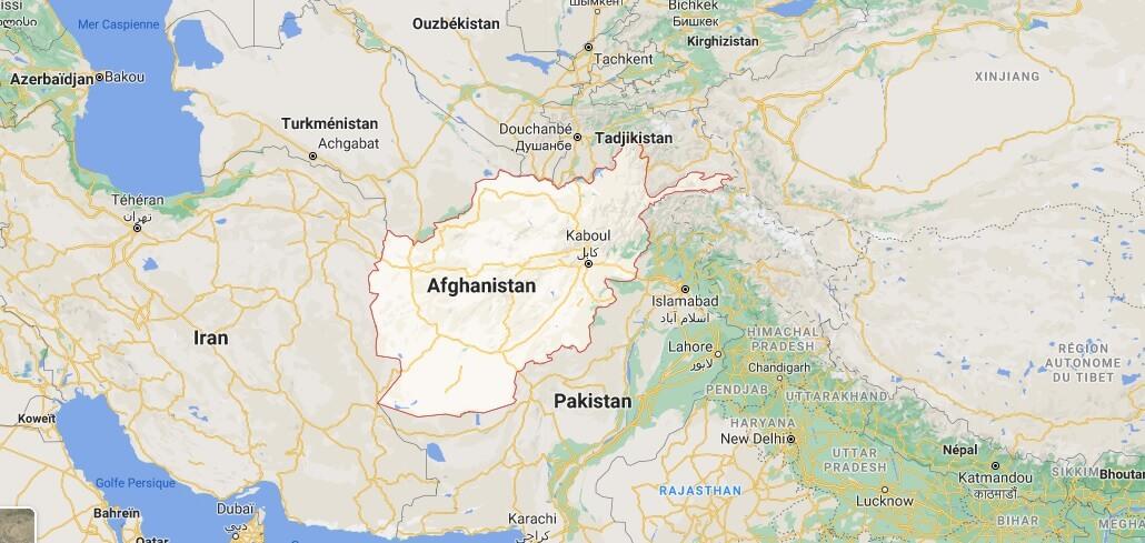 Où se trouve lAfghanistan sur une carte