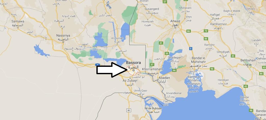 Où se trouve la ville Bassora