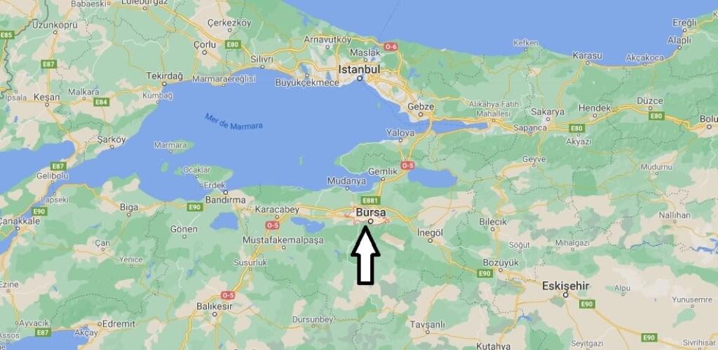 Ou se trouve la ville Bursa