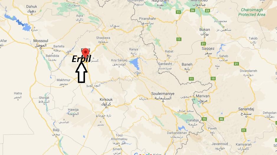 Où se trouve la ville Erbil
