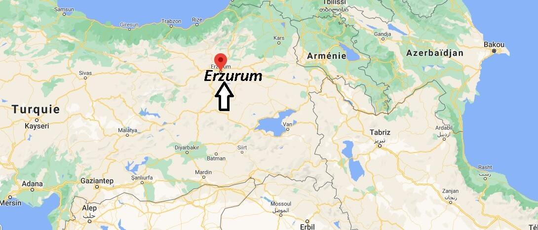 Ou se trouve la ville Erzurum