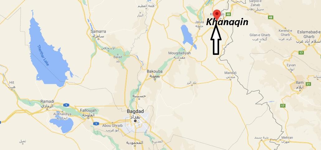 Où se trouve la ville Khanaqin