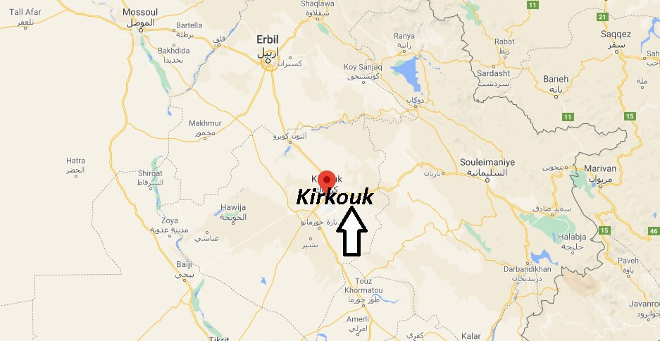 Où se trouve la ville Kirkouk