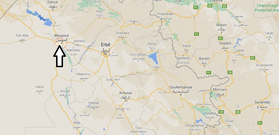 Ou se trouve la ville Mossoul