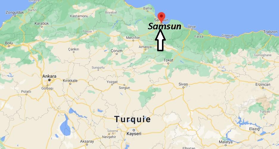 Ou se trouve la ville Samsun