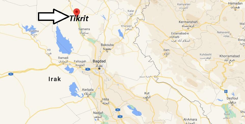 Où se trouve la ville Tikrit