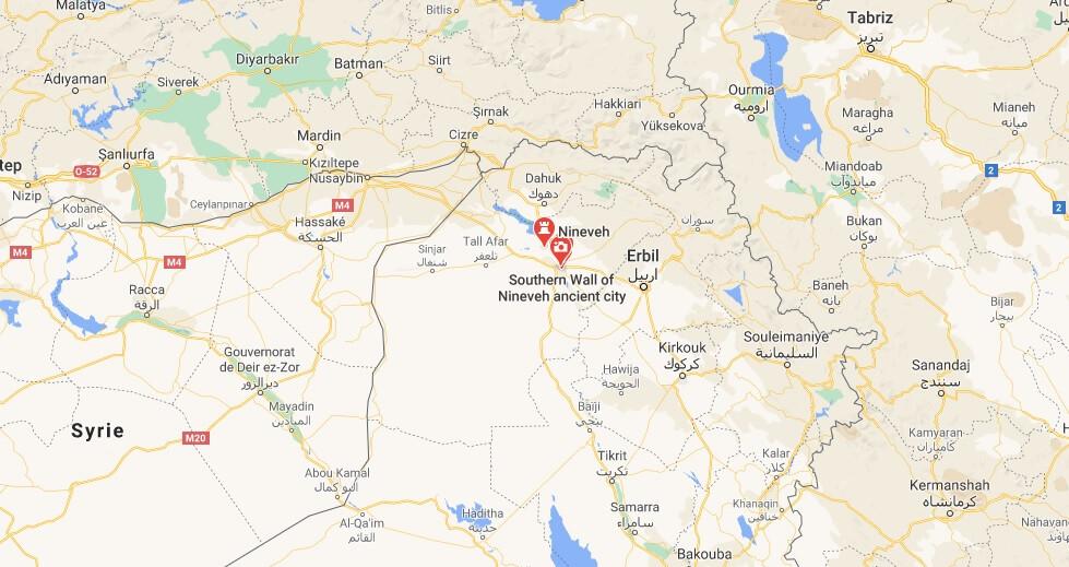 Où se trouve la ville de Ninive