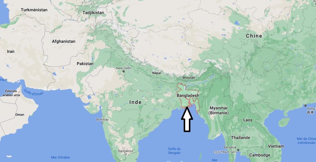 Où se trouve le Bangladesh