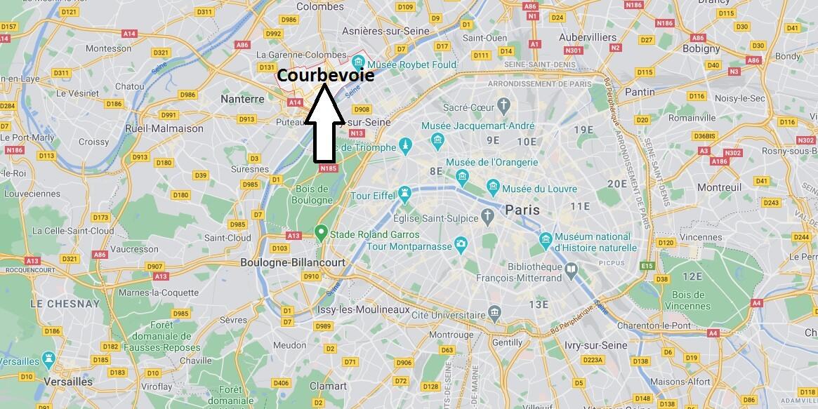Dans quelle région se trouve Courbevoie