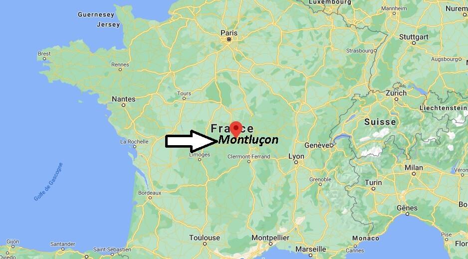 Dans quelle région se trouve Montluçon