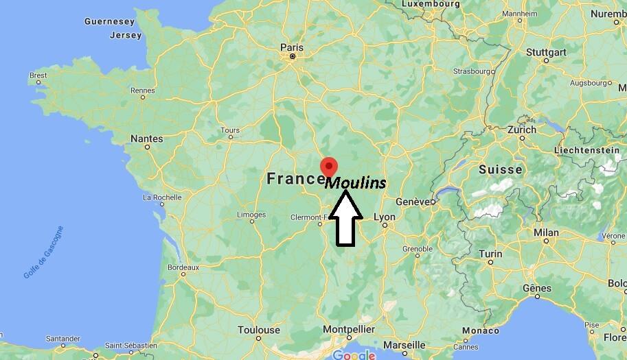 Dans quelle région se trouve Moulins