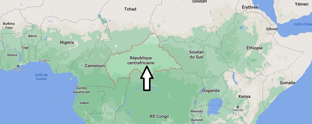 Où est situé Centrafrique
