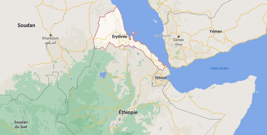 Où est situé Érythrée