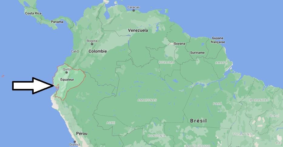 Où est situé L-équateur