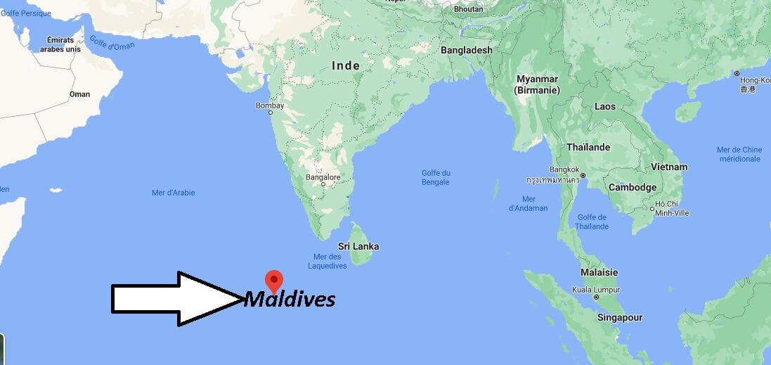 Où est situé Maldives