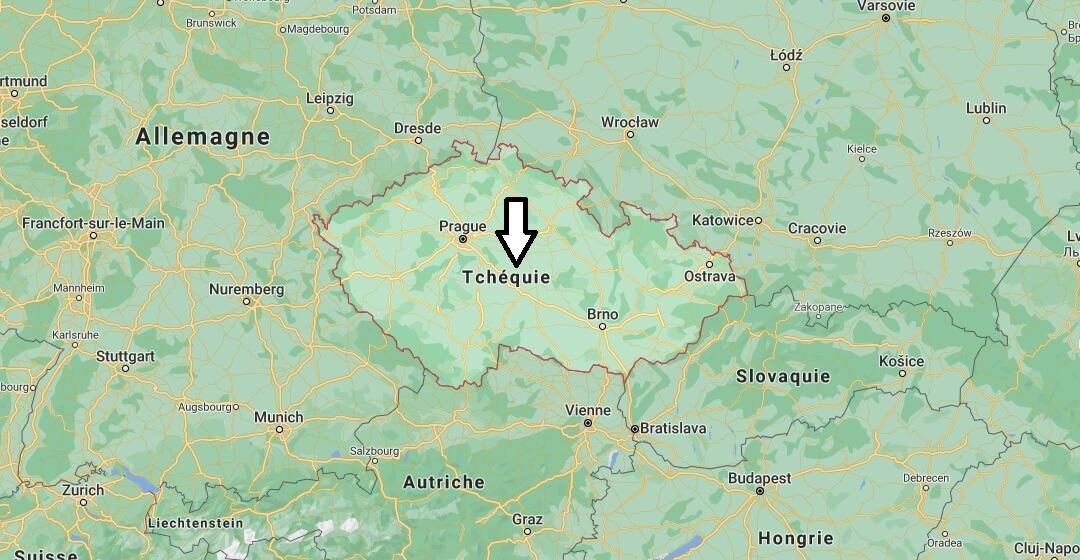 Où est situé Tchèque