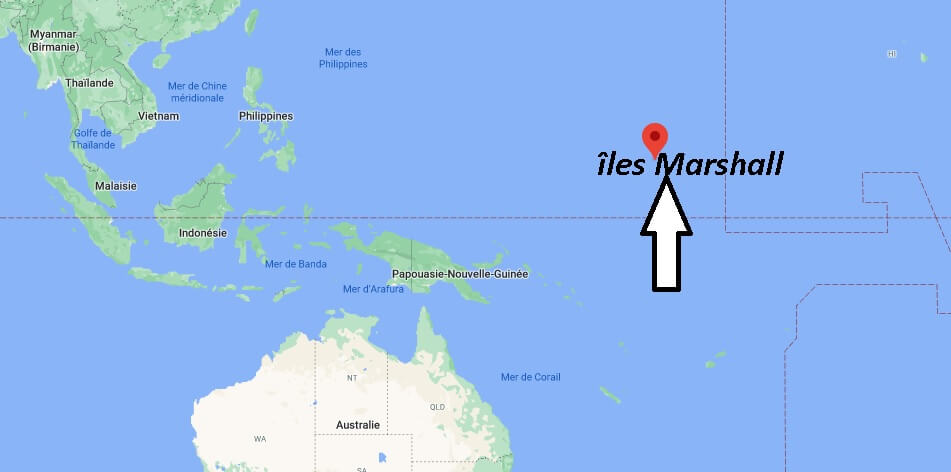 Où est situé îles Marshall