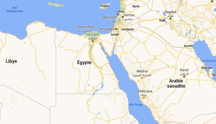 Où est situé l-Egypte