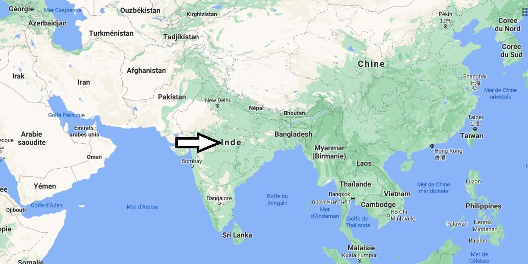 Où est situé l-Inde