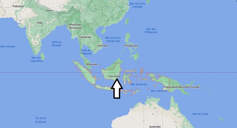 Où est situé l-Indonésie