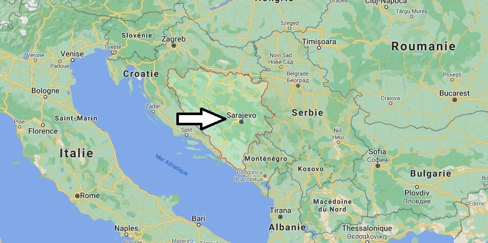 Où est situé la Bosnie-Herzégovine