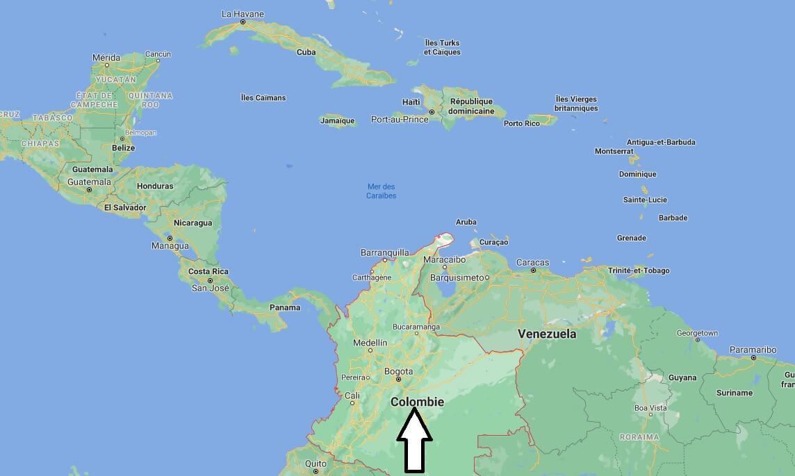 Où est situé la Colombie