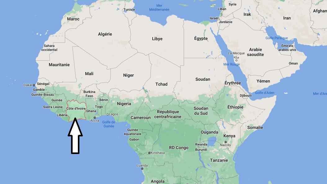 Où est situé la Côte d-Ivoire
