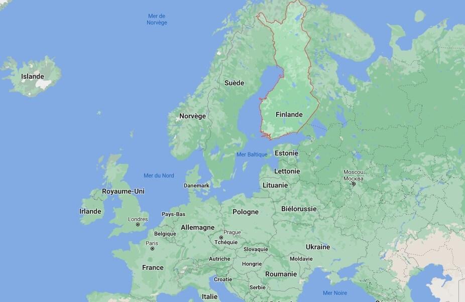 Où est situé la Finlande