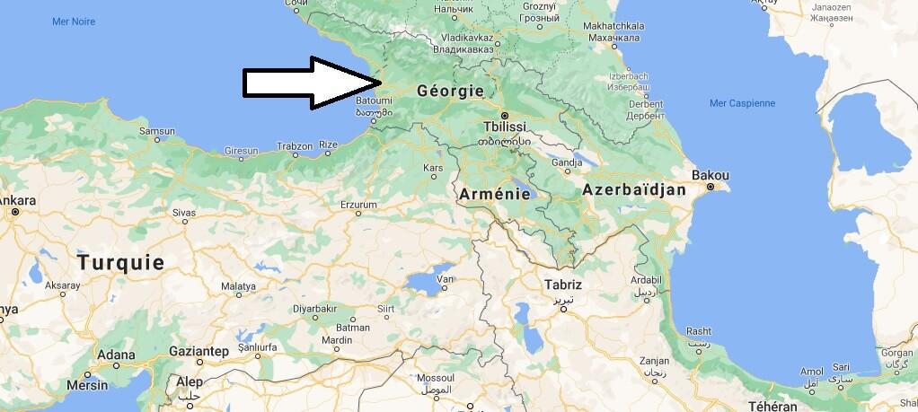 Où est situé la Géorgie