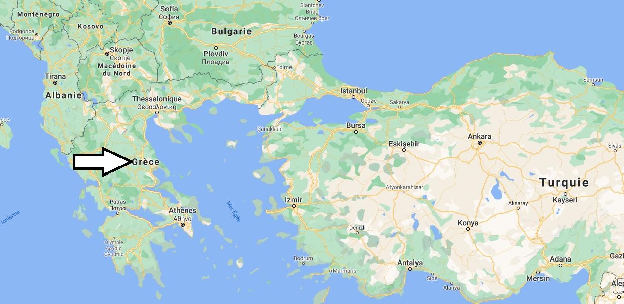 Où est situé la Grèce