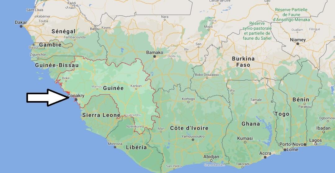 Où est situé la Guinée