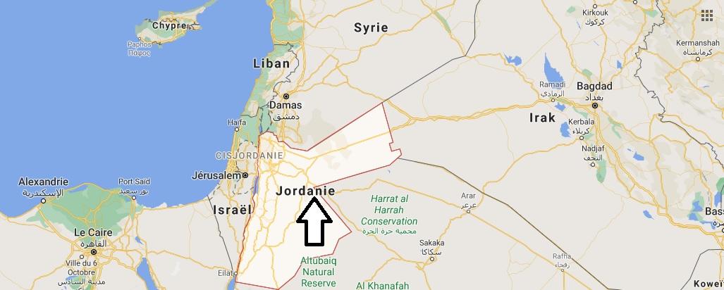 Où est situé la Jordanie