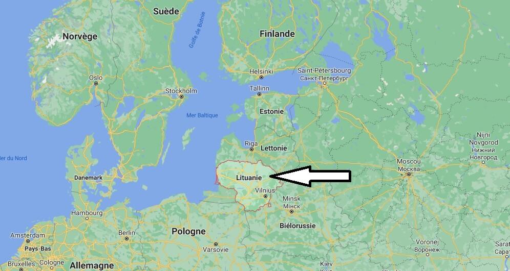 Où est situé la Lituanie