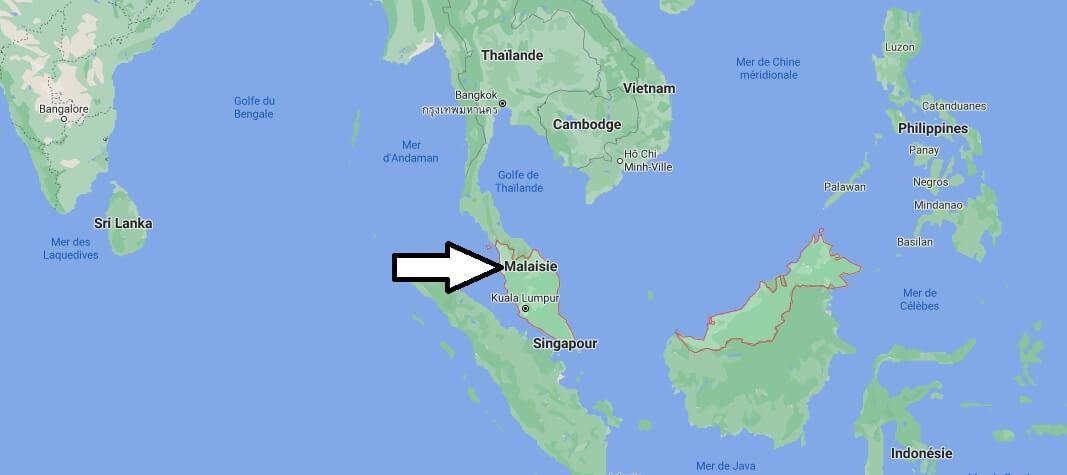 Où est situé la Malaisie
