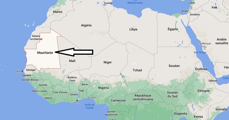 Où est situé la Mauritanie